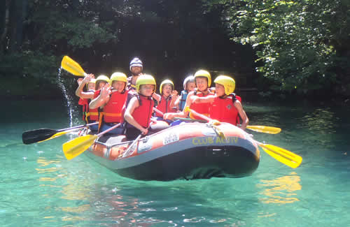 Rafting at Voidomatis river in Epirus, Greece with Papigo Rafting and our Rafting Guides IRF, Shift Water Technicians Rescue 3
