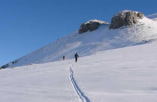 Touring ski on Tymfi mountain range